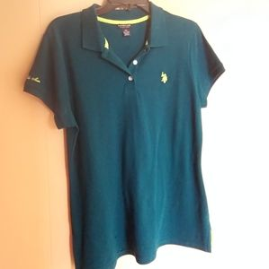 Dark green U.S. Polo collar shirt